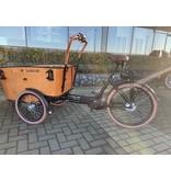 Vogue E-bike bakfiets Carry middenmotor zwart/bruin