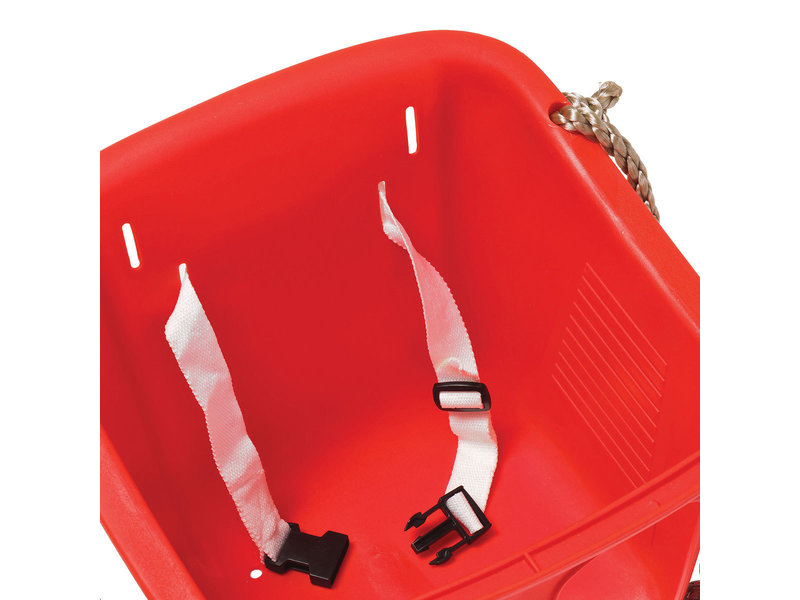 Babyzitje in rigide kunststof rood