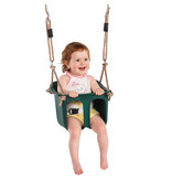 Babyzitje in rigide kunststof groen