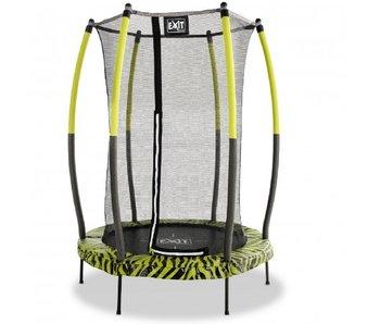 EXIT Tiggy Junior Trampoline met Veiligheidsnet - 140 cm - Zwart/Lime