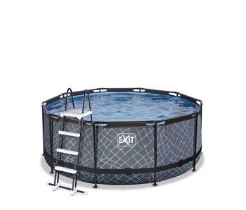 EXIT zwembad ø360x122cm met filterpomp - bruin