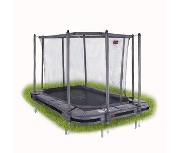 Avyna Pro-Line 520x305 InGround trampoline met net, grijs/groen