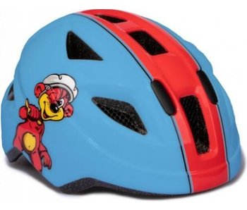 Helm  wit/rood
