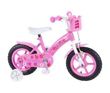 Volare Flowerie 12 inch meisjesfiets roze