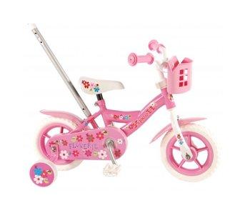 Volare Yipeeh Flowerie 10 inch meisjesfiets roze