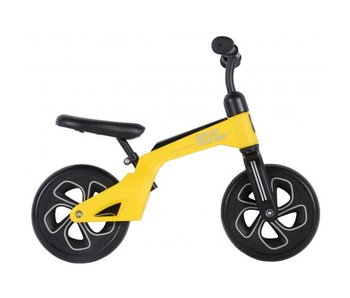 Q-Play Tech 10 inch loopfiets geel