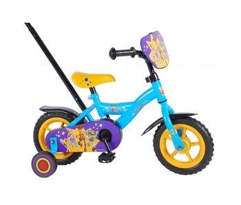 Toy Story Disney 4 10 inch jongensfiets blauw geel