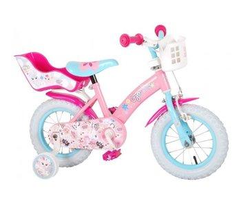 Volare OJO 12 inch meisjesfiets roze blauw
