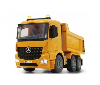 Jamara kiepwagen RC Mercedes-Benz Arocs 2,4 Ghz geel 1:20