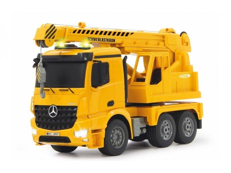 Jamara  bouwkraan RC Mercedes-Benz Arocs 2,4 Ghz geel 1:20
