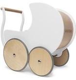 Kinderfeets Houten poppenwagen Wit