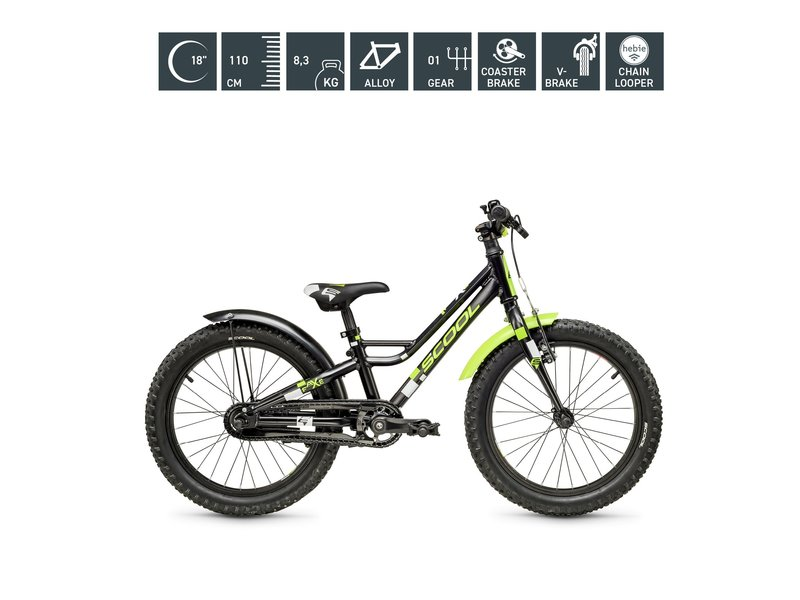 S'COOL faXe 18 inch, 1 s, scool kinderfiets