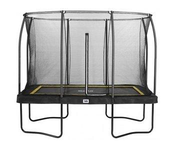 Salta rechthoekige comfort edition zwart 214X305 cm met gratis trapje