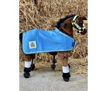 Animal Riding Deken voor Small dieren blauw met Logo