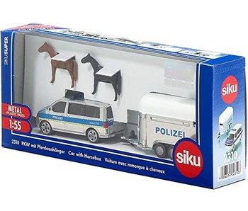 Siku Politiebus met paardentrailer