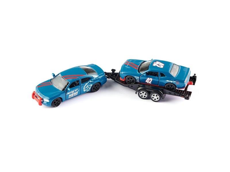 Siku Dodge Charger met Dodge Challenger SRT Racing Siku
