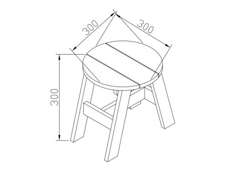 Axi 3-delige picknickset (grijs/wit)