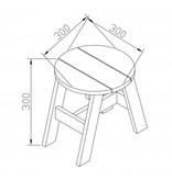 Axi 2-delige picknick krukjes set rond (grijs/wit)