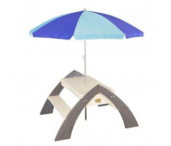 Axi Delta zand en water picknicktafel met parasol