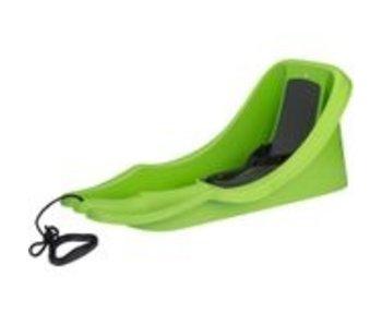 Nijdam Slede Plastic Baby Bob Rood/lime groen