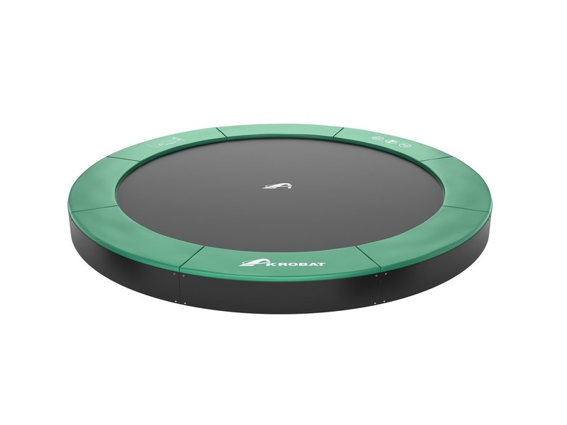 Akrobat Orbit Flat to the ground Trampoline 430 Groen (incl. veiligheidsnet)
