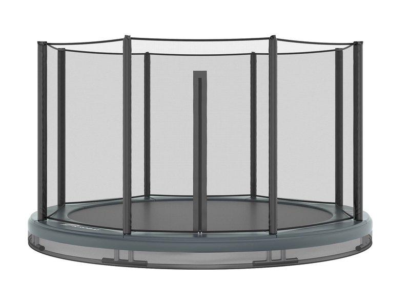 Akrobat Orbit Inground Trampoline 365 Grijs (incl. veiligheidsnet)