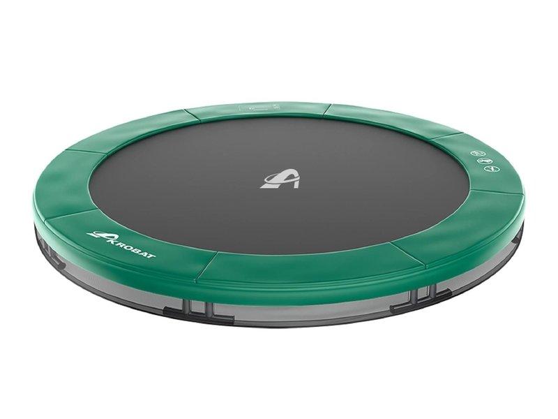 Akrobat Orbit Inground Trampoline 430 Groen (incl. veiligheidsnet)