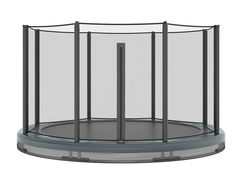 Akrobat Orbit Inground Trampoline 430 Grijs (incl. veiligheidsnet)