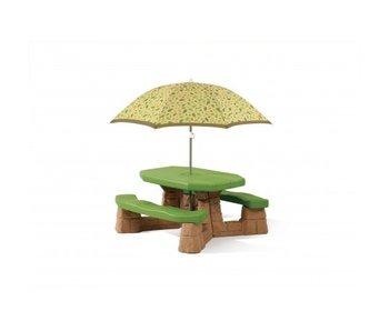 Step2 picknicktafel met parasol (natuurlijk)