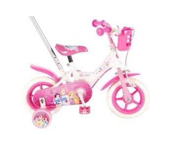 Volare Disney Princess 10 inch meisjesfiets wit / roze