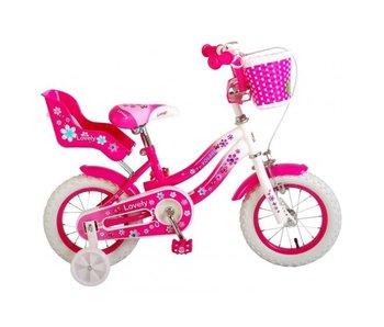 Volare Lovely 12 inch meisjesfiets roze / wit