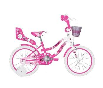 Volare Lovely 14 inch meisjesfiets roze / wit