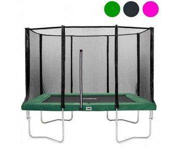 Salta Rechthoekige trampoline 214x153 met veiligheidsnet Groen