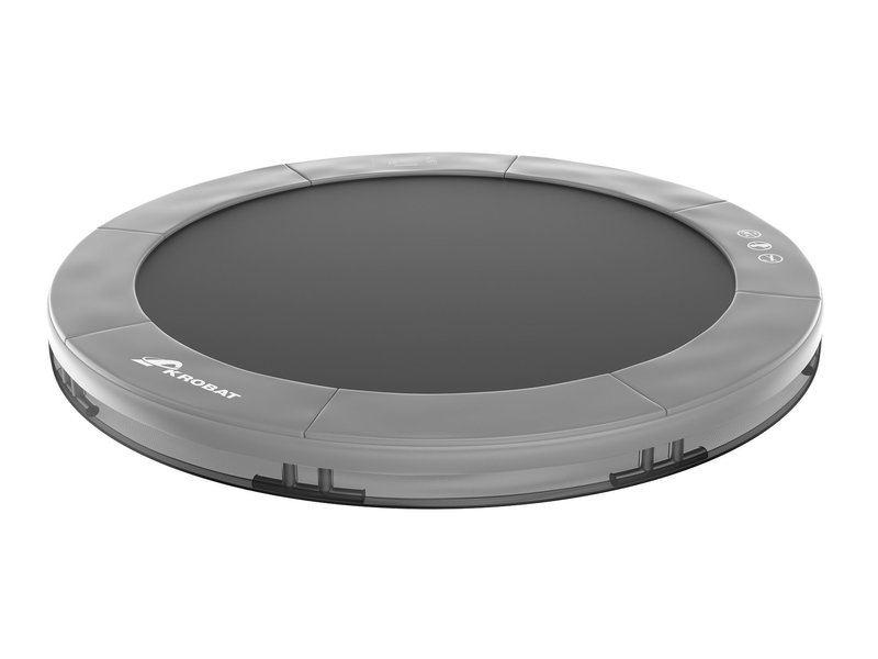 Akrobat Orbit Inground Trampoline 430 Grijs (excl. veiligheidsnet)
