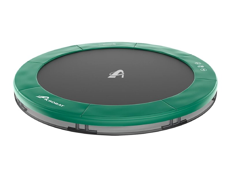 Akrobat Orbit Inground Trampoline 430 Groen (excl. veiligheidsnet)