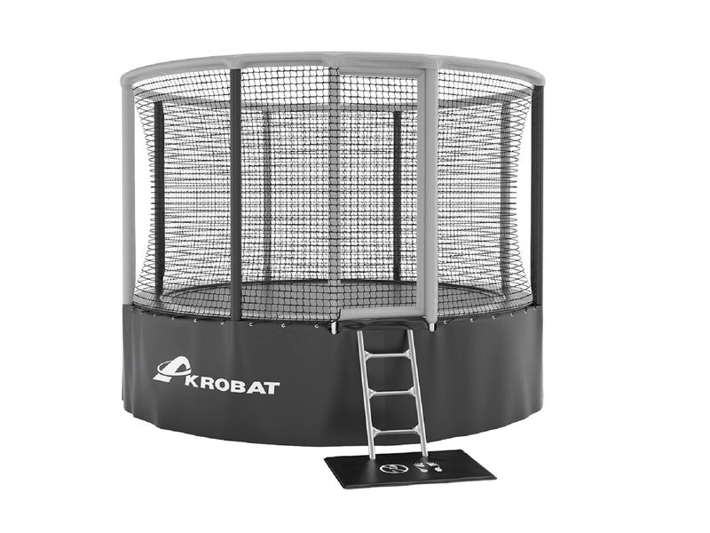 Akrobat Gallus Above ground Trampoline 365 Grijs