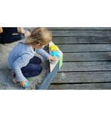 EXIT Aksent houten zandbak zeshoek 160x140cm