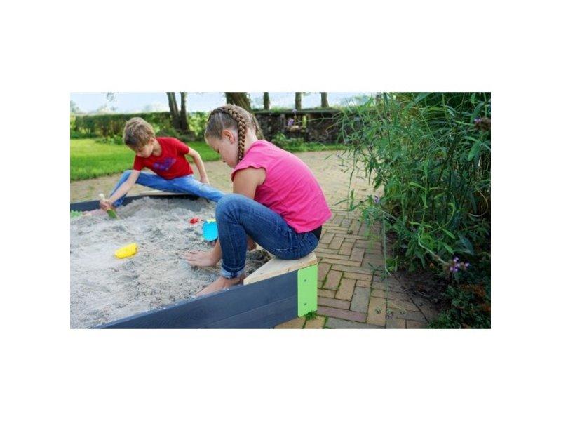 Aksent houten zandbak zeshoek 200x170cm