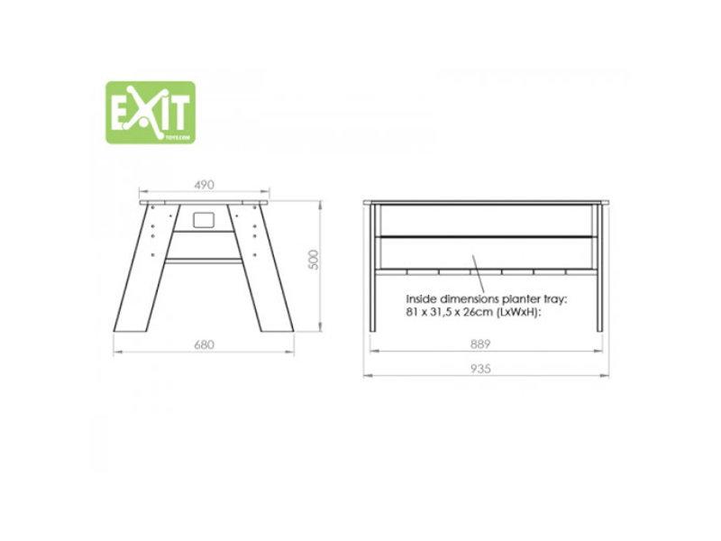 EXIT Aksent Kweektafel L Deluxe