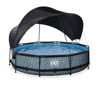 EXIT zwembad ø244x76cm met schaduwdoek en filterpomp