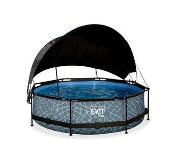 EXIT zwembad ø300x76cm met schaduwdoek en filterpomp