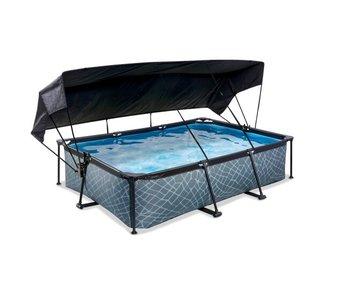 EXIT zwembad 300x200x65cm met schaduwdoek en filterpomp