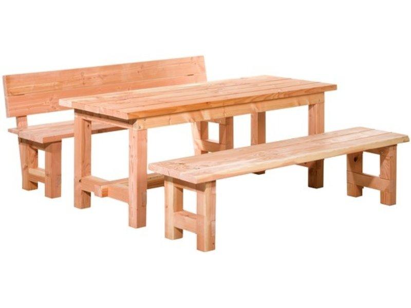 Douglas tafel Tiemen 80 x 80 x 200 cm, onbehandeld