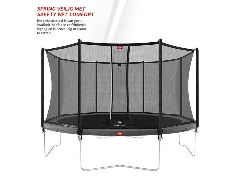 BERG Favorit Regular Trampoline 430 Grijs Levels (incl. veiligheidsnet comfort)