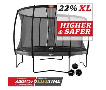 BERG Elite Regular 430 Grijs Levels + veiligheidsnet deluxe xl
