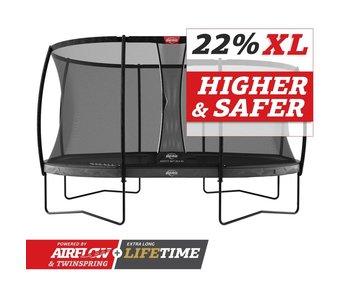 BERG Grand Elite Regular 520x345 Grijs + veiligheidsnet deluxe xl