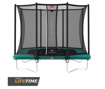 BERG Ultim Favorit Regular 280x190 Groen + veiligheidsnet comfort