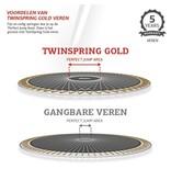 BERG Champion InGround Trampoline 380 Groen (incl. veiligheidsnet deluxe)