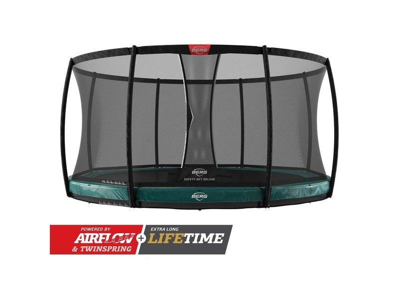 BERG Elite InGround Trampoline 380 Groen (incl. veiligheidsnet deluxe)