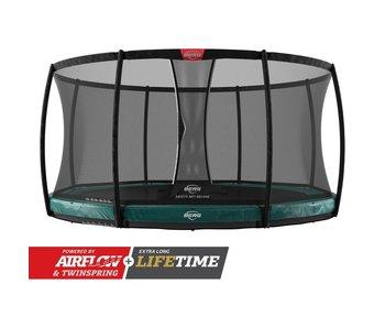 BERG Elite InGround 430 Groen + veiligheidsnet deluxe